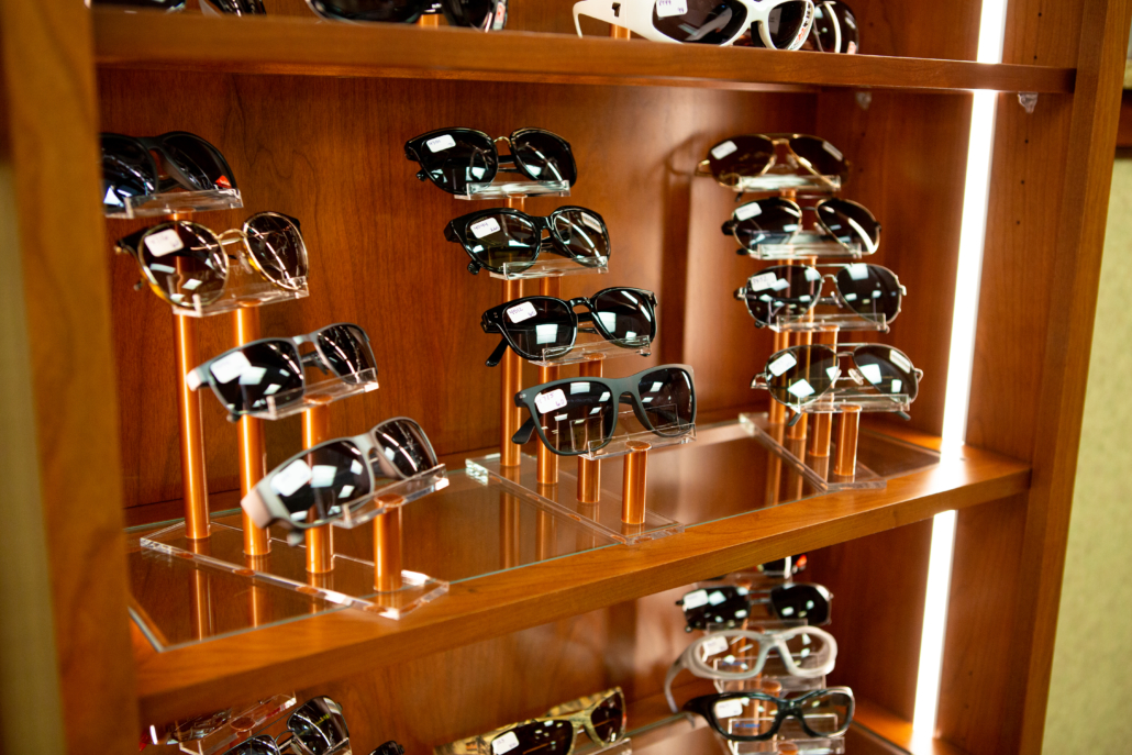 Sunglasses rack